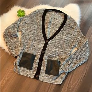 Sparkle & Fade Crochet Cozy Sweater with Pockets